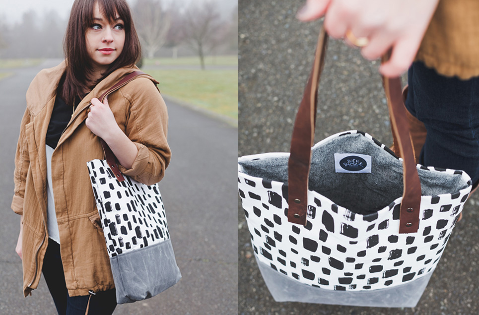 brush dot tote