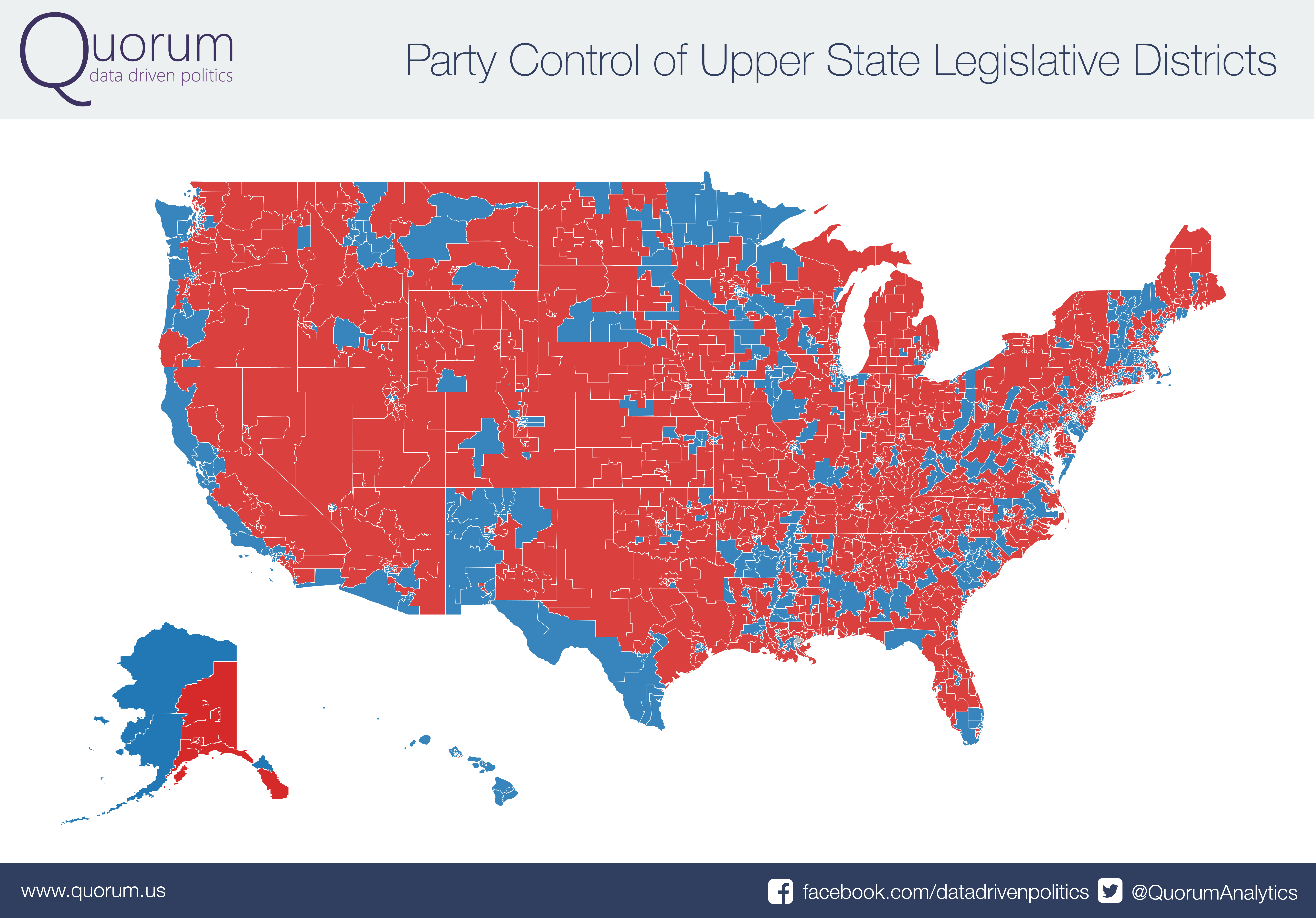 Some Awesome State Legislative Maps From Quorum - Us senate elections 2016 map