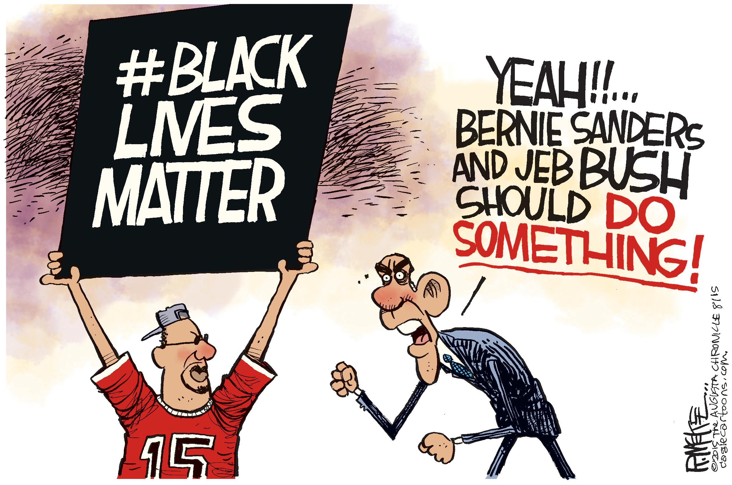 editorial cartoon black lives matter
