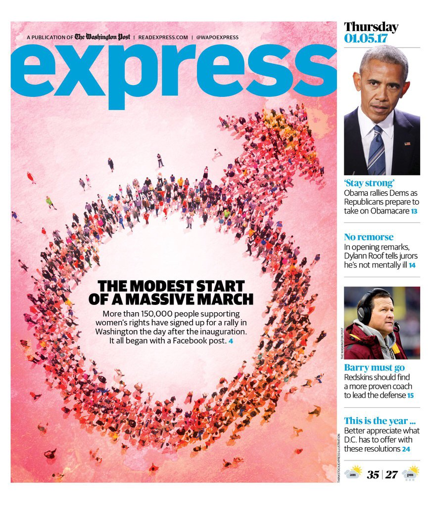 WaPo Express Pairs Story on Women's March With the Male Symbol