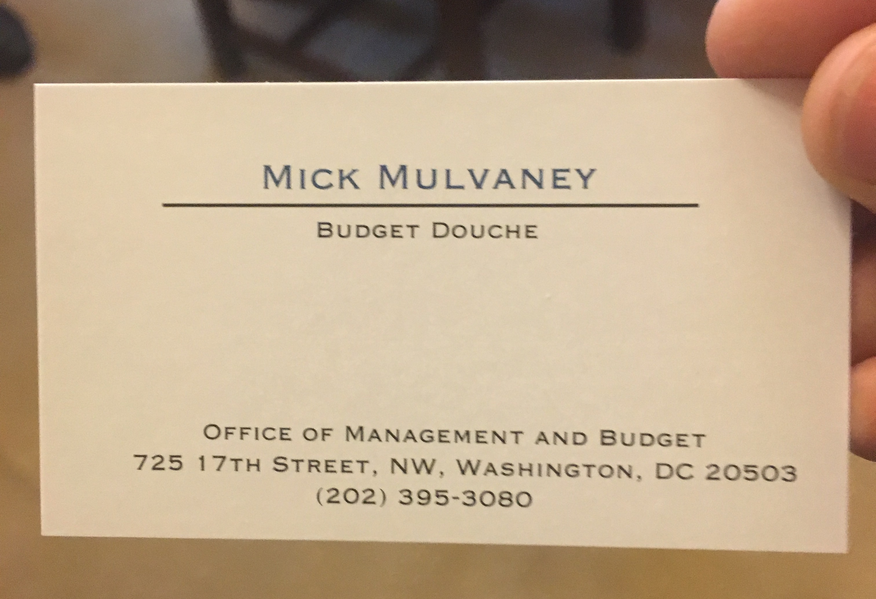 kind protesters provided mick mulvaney with bud douche