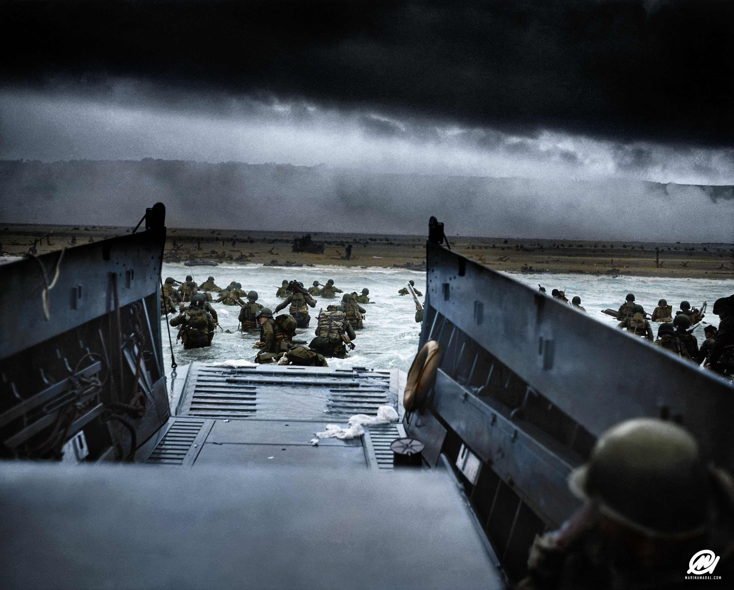 D Day In Color See iconic D-Day black...