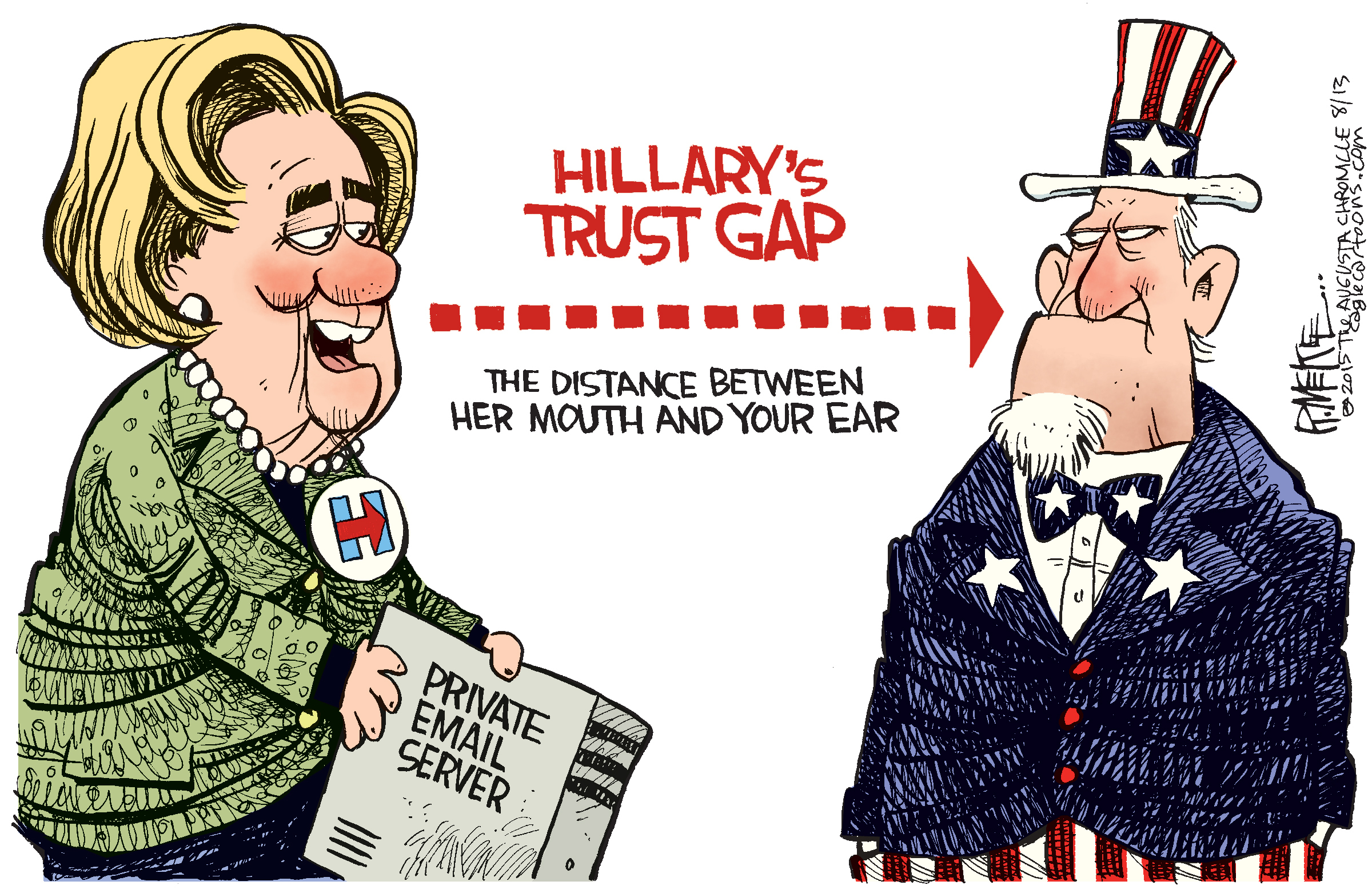 Image result for hillary versus trump cartoons 2016