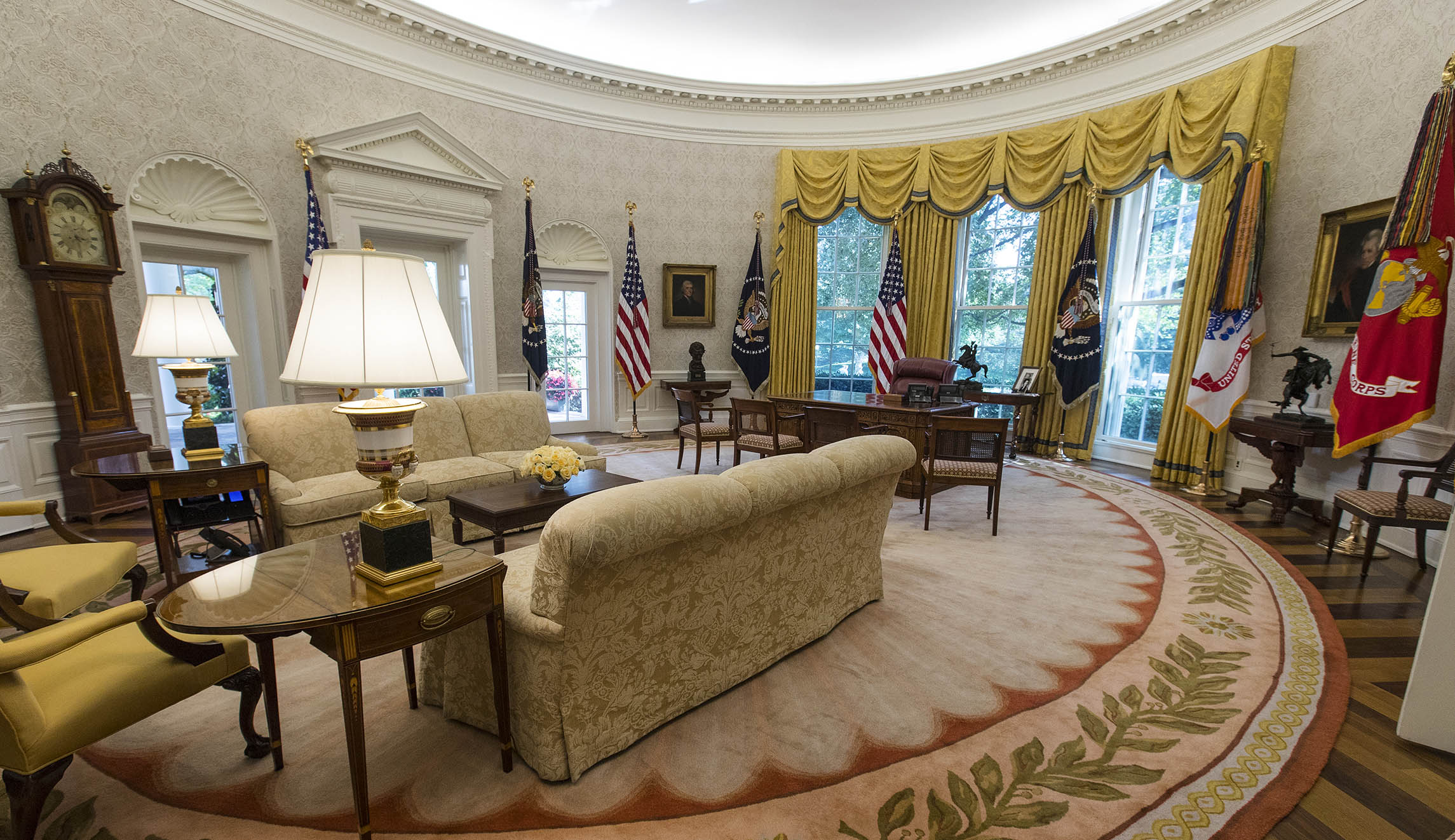 One White House Official Called It Temporary Wallpaper Saying May Or Not Be Switched After Trump Selects A Permanent Rug Design