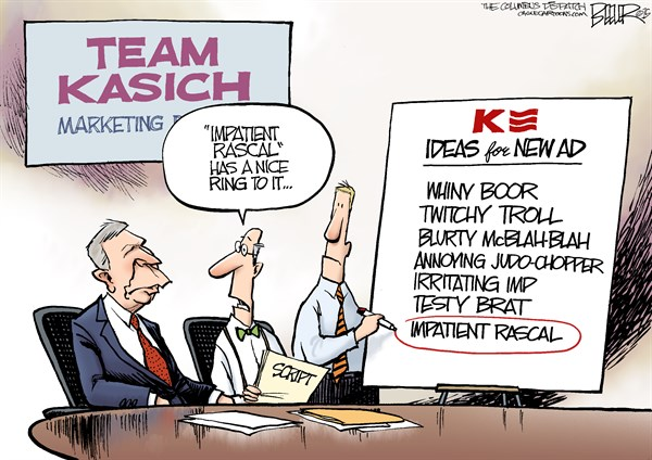 Image result for cartoon of john kasich