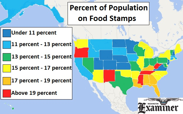 Percentage Of Food Stamp Recipients By State