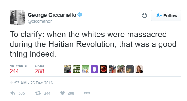 A Drexel Professor Tweeted That He Wants 'White Genocide' for Christmas