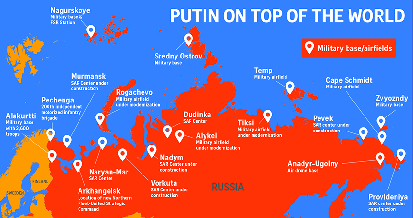 Freezing US Out Of The Arctic - Us troops near russia map
