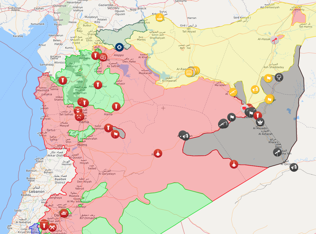 erdogan and putin prepare to hit us interests in syria - prepare for an aleppostyle slaughter take a look at the map from syrialive maps