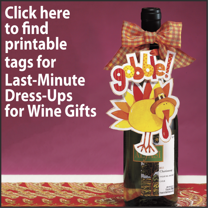Tags for Last-Minute Dress-Ups for Wine Gifts