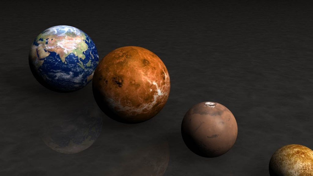 PLANETS AND STARS SIZE – COMPARISON – EARTH SIZE