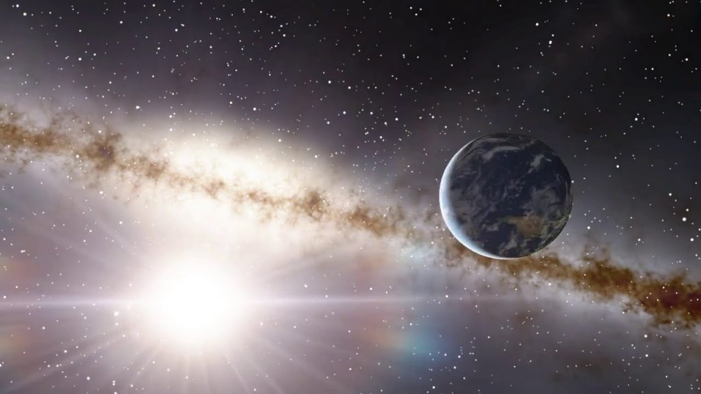 Space Engine Sun Galaxies Stars Planet Earth   Music Relax Instrumental