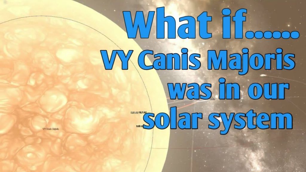 WHAT IF  VY CANIS MAJORIS WAS IN OUR SOLAR SYSTEM | 4K subscriber special