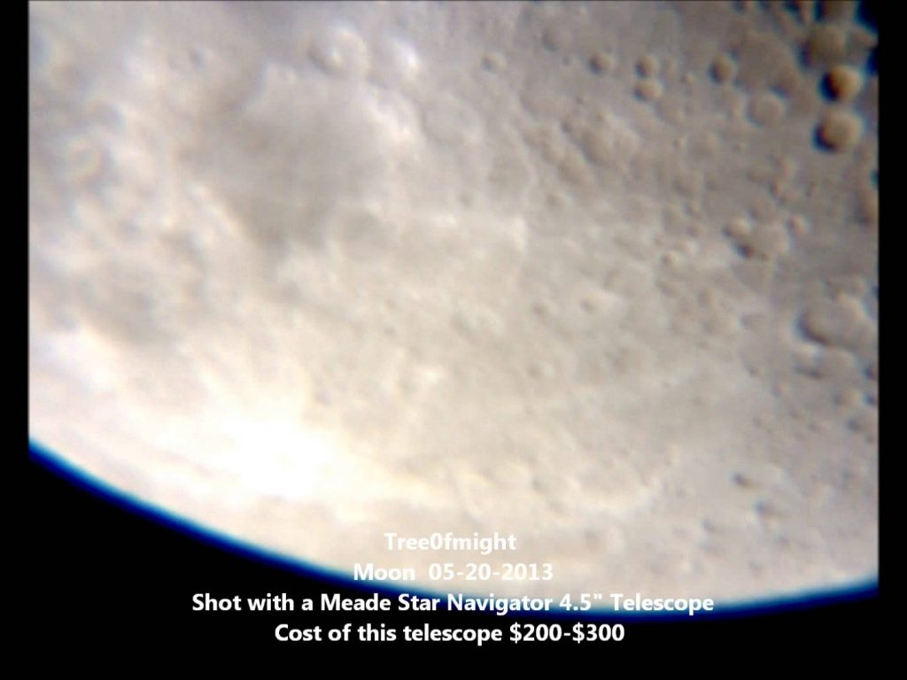 Viewing Planets – 4″ 5″ 8″ Telescope Saturn's Rings & Our Moon