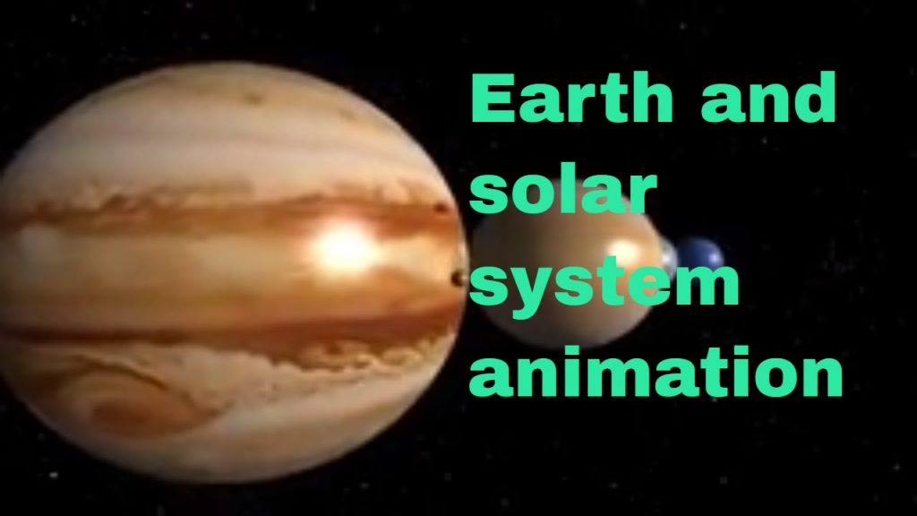 Earth – The Solar System -Space Animation