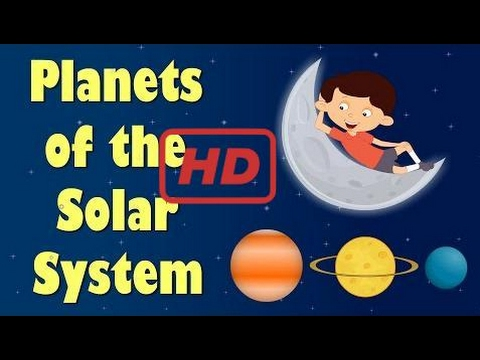 Learn COLORS & NUMBERS |  Planets of the Solar System | Videos for Kids