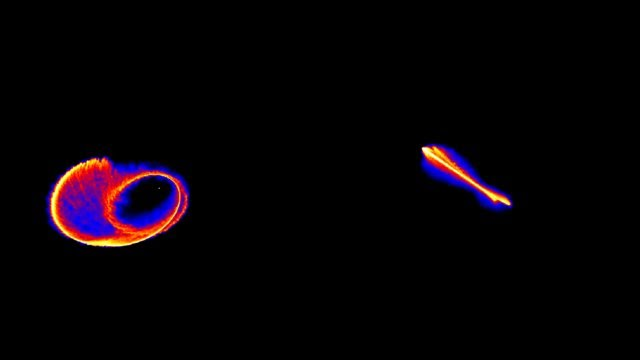Supermassive black hole rips star apart (simulation)