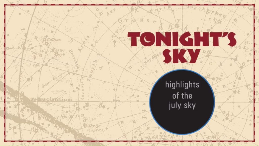 Astronomy : The Night Sky For July 2017 – Jupiter / Saturn / Meteor Showers