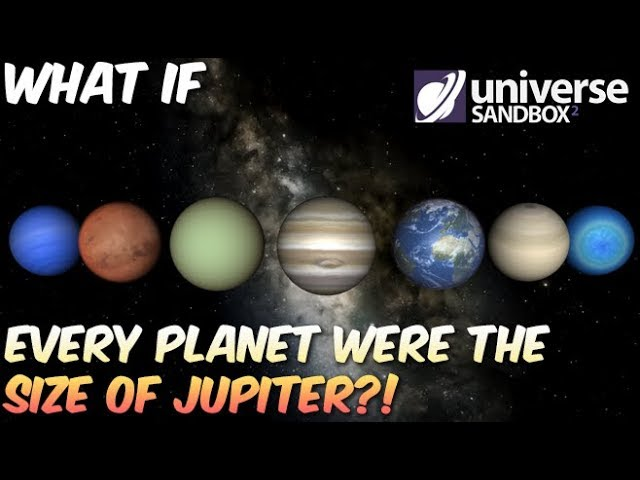 What if All Planets Were The Size of Jupiter?!