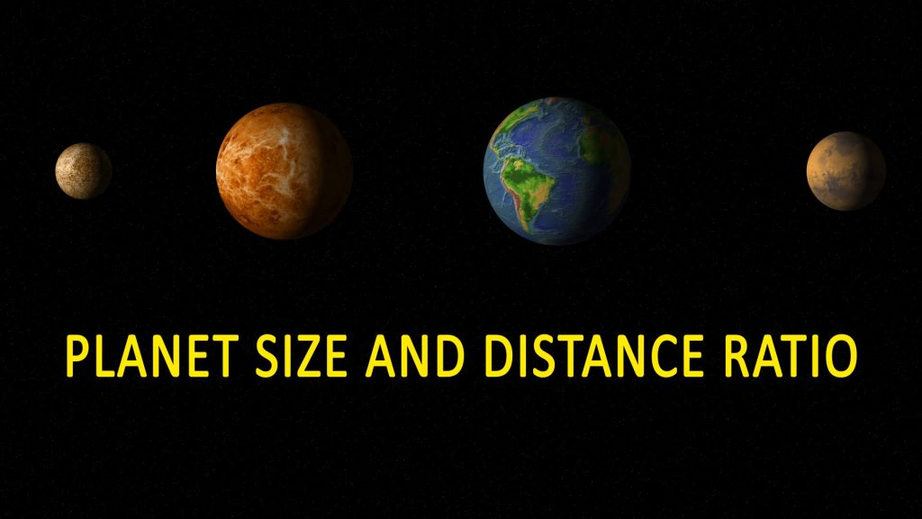 OUR SOLAR SYSTEM PLANETS SIZE AND DISTANT RATIO!