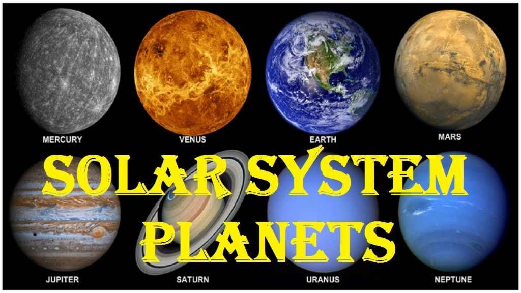 All the Planets in Our Solar System.