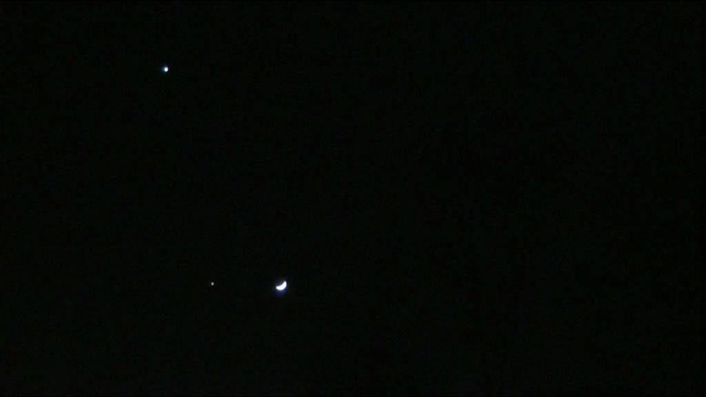 Moon, Jupiter & Venus – planets, astronomy