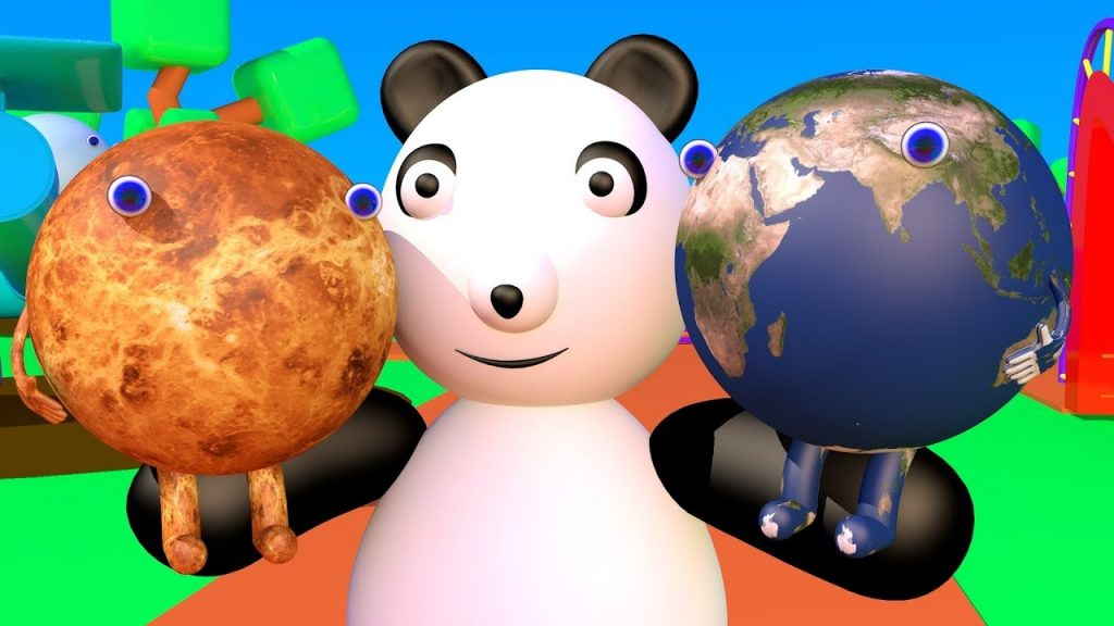 Learn 8 Planets with Baby Panda Explore Our Solar System Games For Kids Nursery Rhymes For Baby HD C