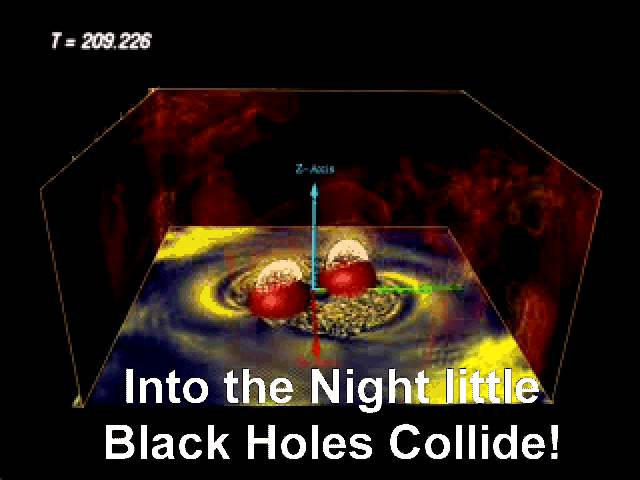 Black Hole Gravity Wave CHIRP Song