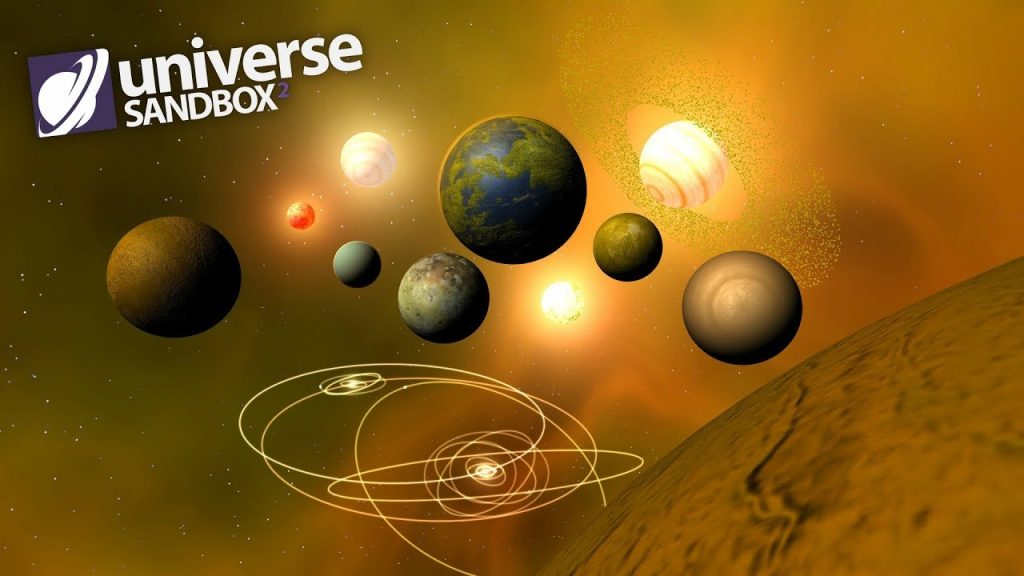 Making A Solar System Out Of Yellow Objects, Universe Sandbox ²