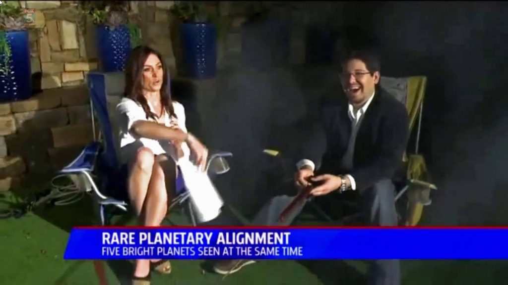 Planetary Alignment Interview – San Diego 5 News – StarDude Astronomy