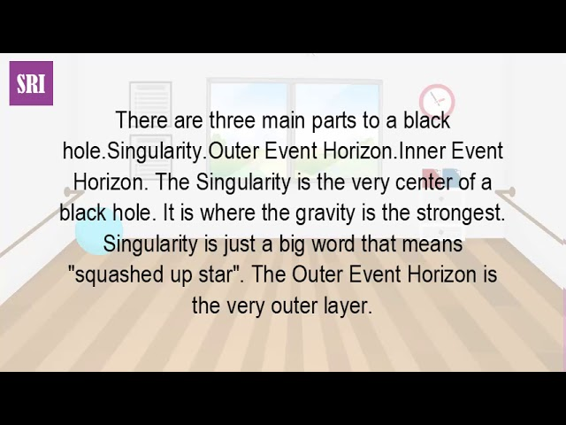 What Are The Three Main Parts Of A Black Hole?