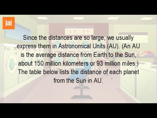 How Far Are The Planets From The Sun In Astronomical Units?
