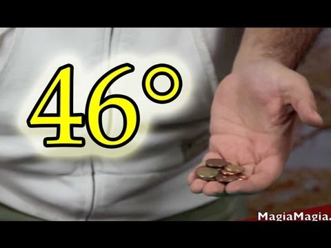 46° Easy Magic tricks many small coins Revealed