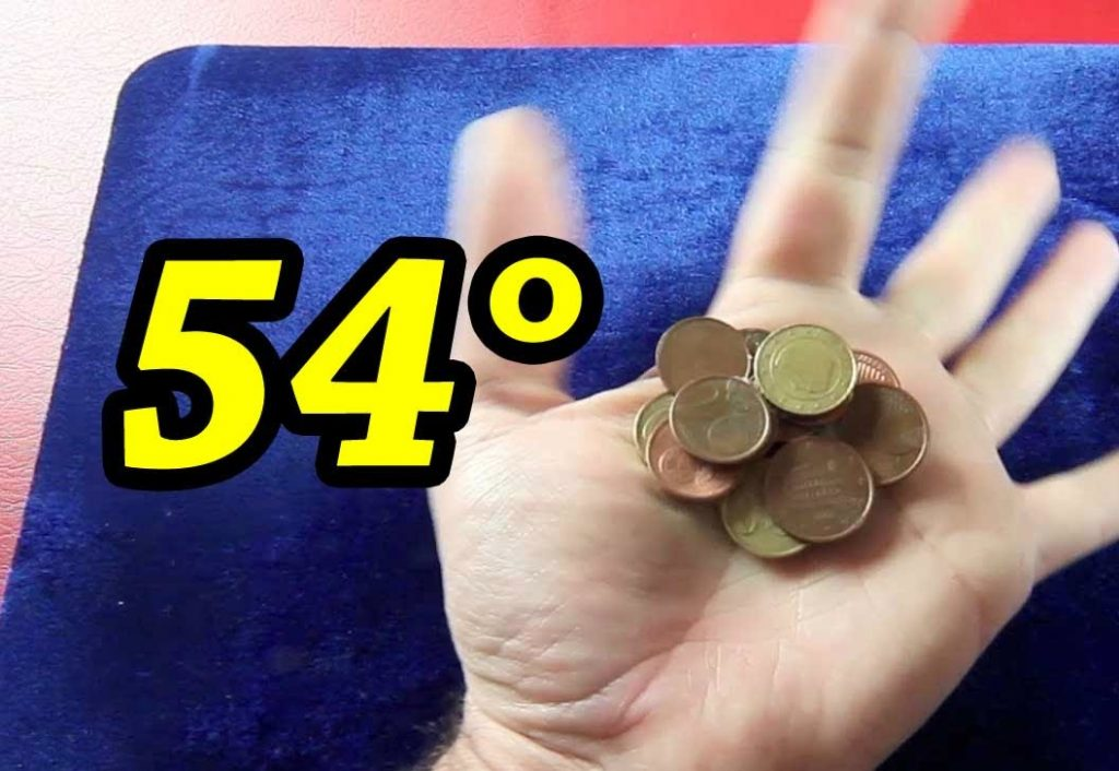 54° Magic tricks Coins easy apparition