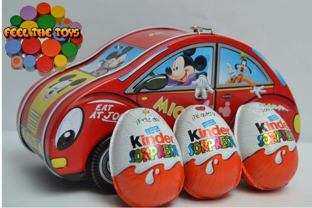 MICKEY MOUSE Magic Money Box & HUEVOS KINDER SURPRISE