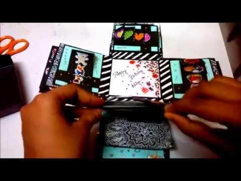 BIRTHDAY EXPLOSION BOX ,MAGIC CARDS