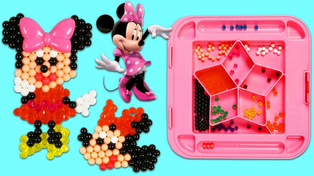 DISNEY Minnie Mouse AquaBeads Playset DIY Magic Beads Join Together with Water!