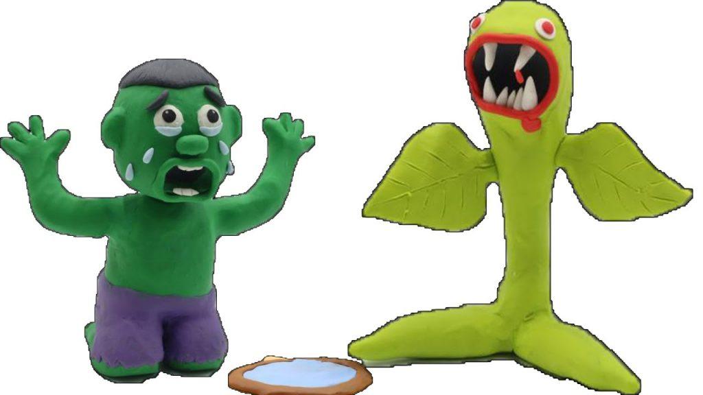Hulk Baby Bean Tree Magic Superhero In Real Life Stop Motion Cartoon for kids