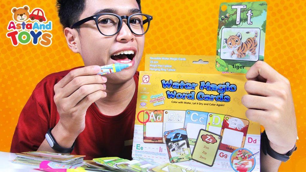 Mewarnai dengan Water Magic World Cards – Asta And Toys