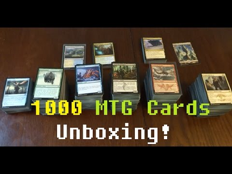 UNBOXING BIG 1000+ MTG CARDS LOT, From Ebay! ~ Magic the Gathering.