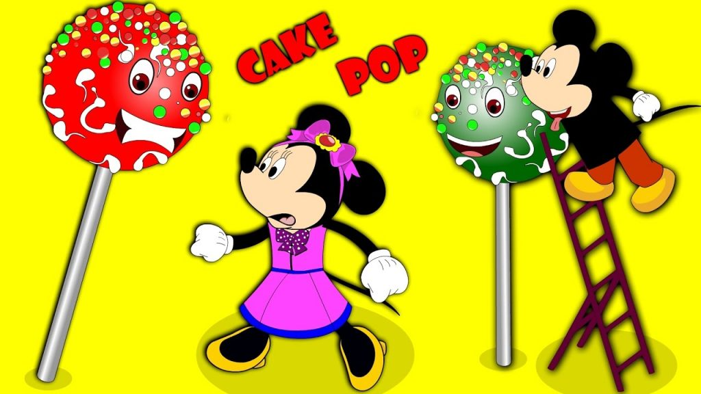 Mickey Mouse eating magic cake pop finger family rhymes for kids | Mickey Mouse ice cream fun
