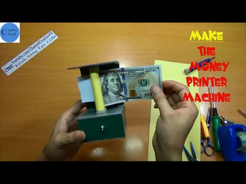 [CREATIVE CHANEL]How to make the money printer-Simple magic trick with the money printer machine