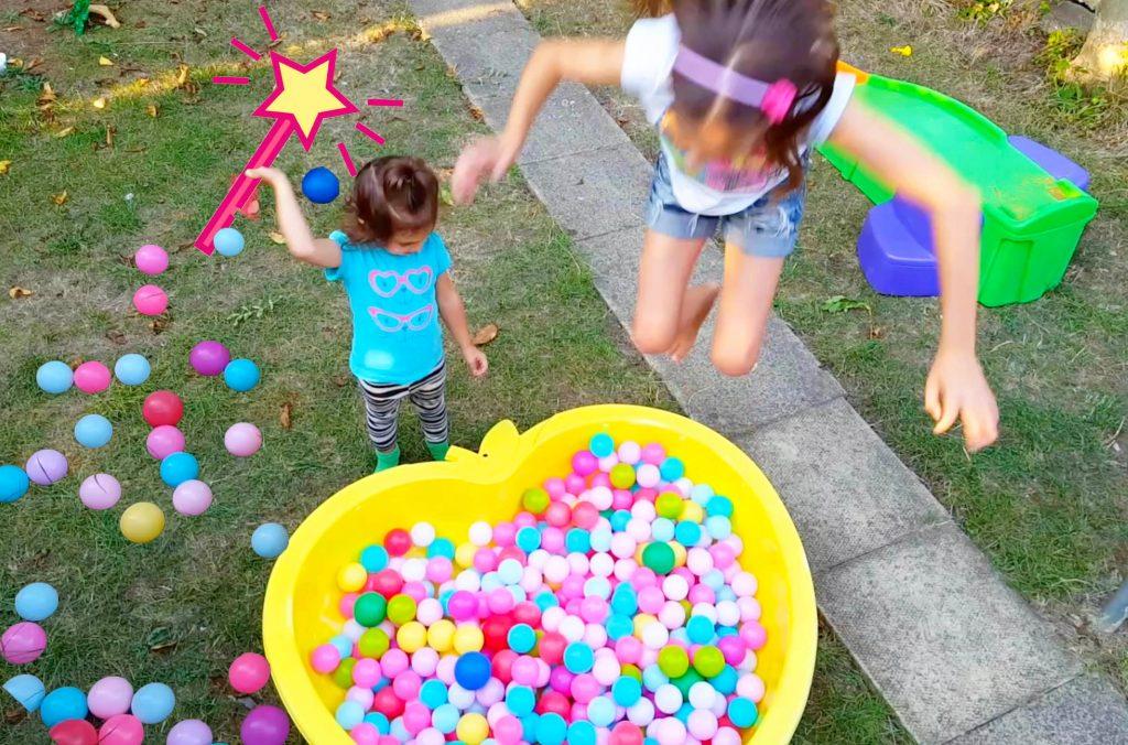 Bad Baby Emily Transforming Toys / Magic Balls Pool Bus and Fun