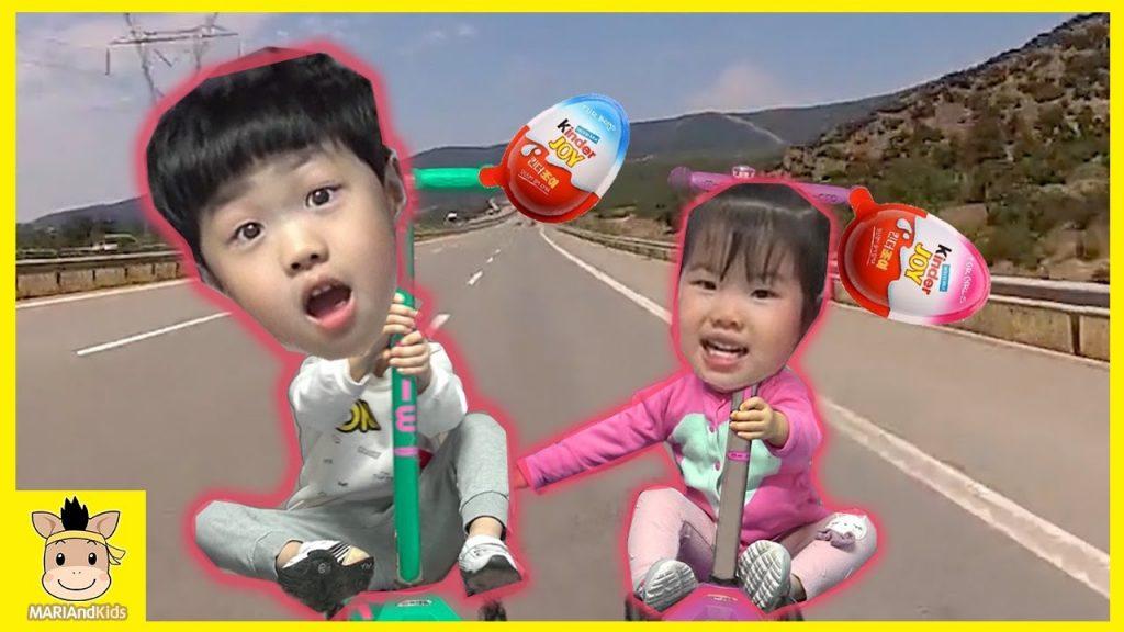 Bad Baby Kids Magic Car Ride Trip Kinder Joy Surprise Eggs Fun Play | MariAndKids Toys
