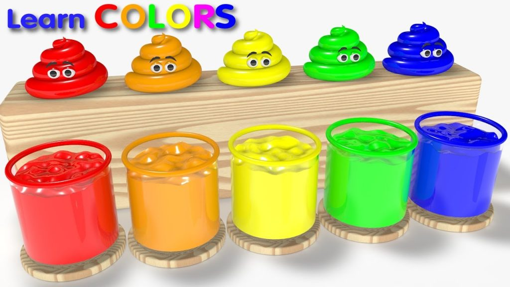 Learn Colors for Kids Children Toddlers with Cute Poop and Magic Liquid – Learning Videos for Kids