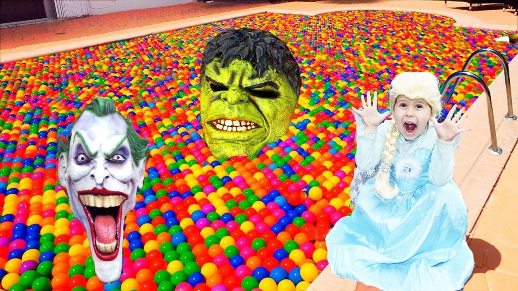 Bad Baby Ванна в Мячиках Ball Pit Show for Kids Magic Ball Pool Learn COLOR