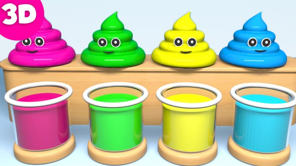 Learn Colors for Kids Children Toddlers with Cute Poop and Magic Liquid Best Learning Videos for Kid