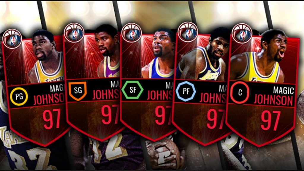 5 NEW 97 MAGIC JOHNSON CARDS! ONE FOR EVERY POSITION!!! – NBA Live Mobile