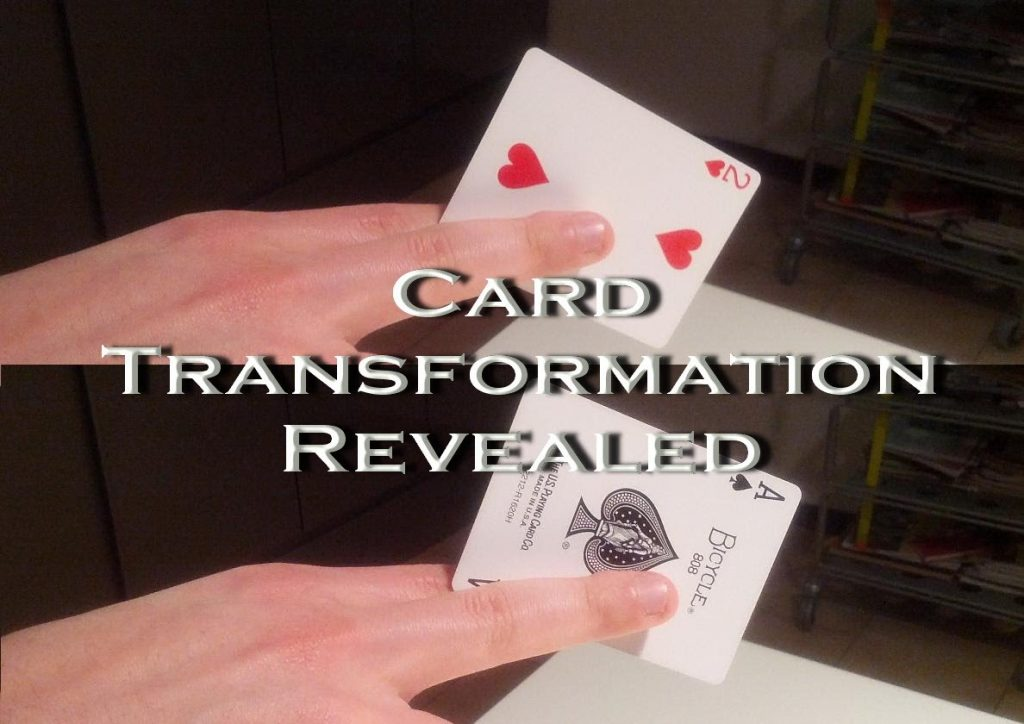 Magic card trick revealed – Snap change – how to make a card transformation illusion