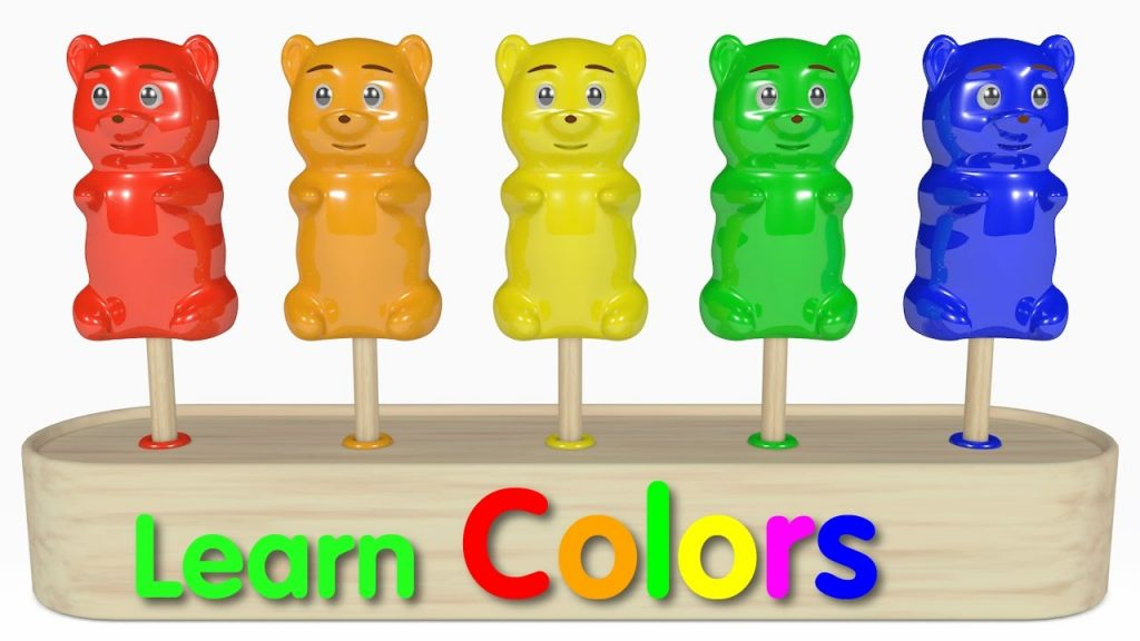 Learn Colors for Kids with Gummy Bear Lollipop and Magic Liquid – Best Learning videos for Kids